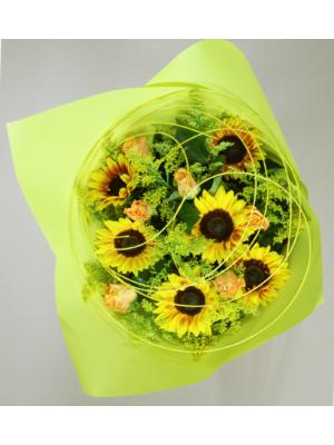 bouquet décoratif soleil suivant la saison a partir de 40.00 €