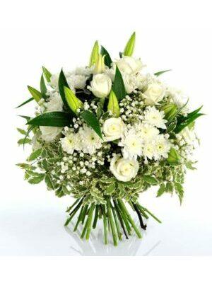 bouquet blanc a partir de      50.00 €